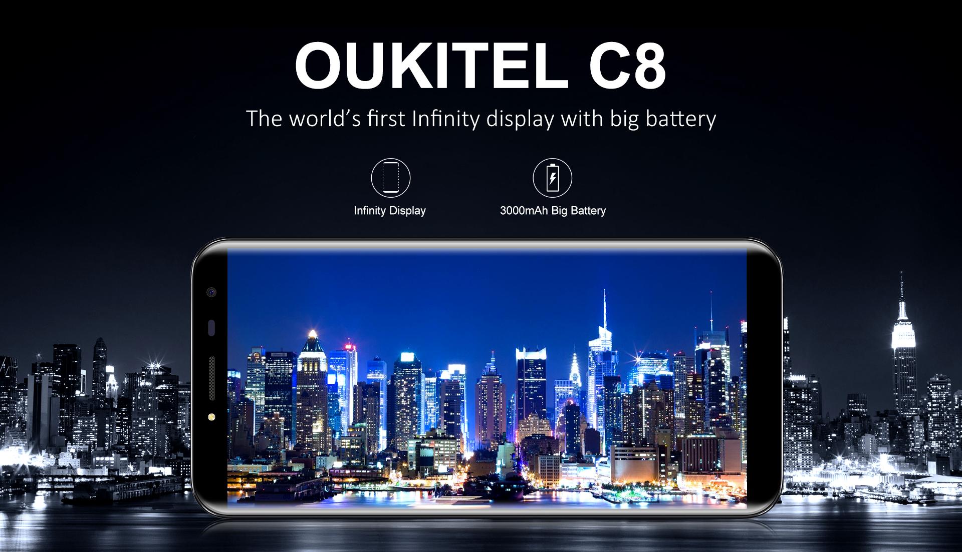 Display oukitel c8