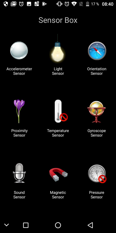 Oukitel K5000 Sensoren