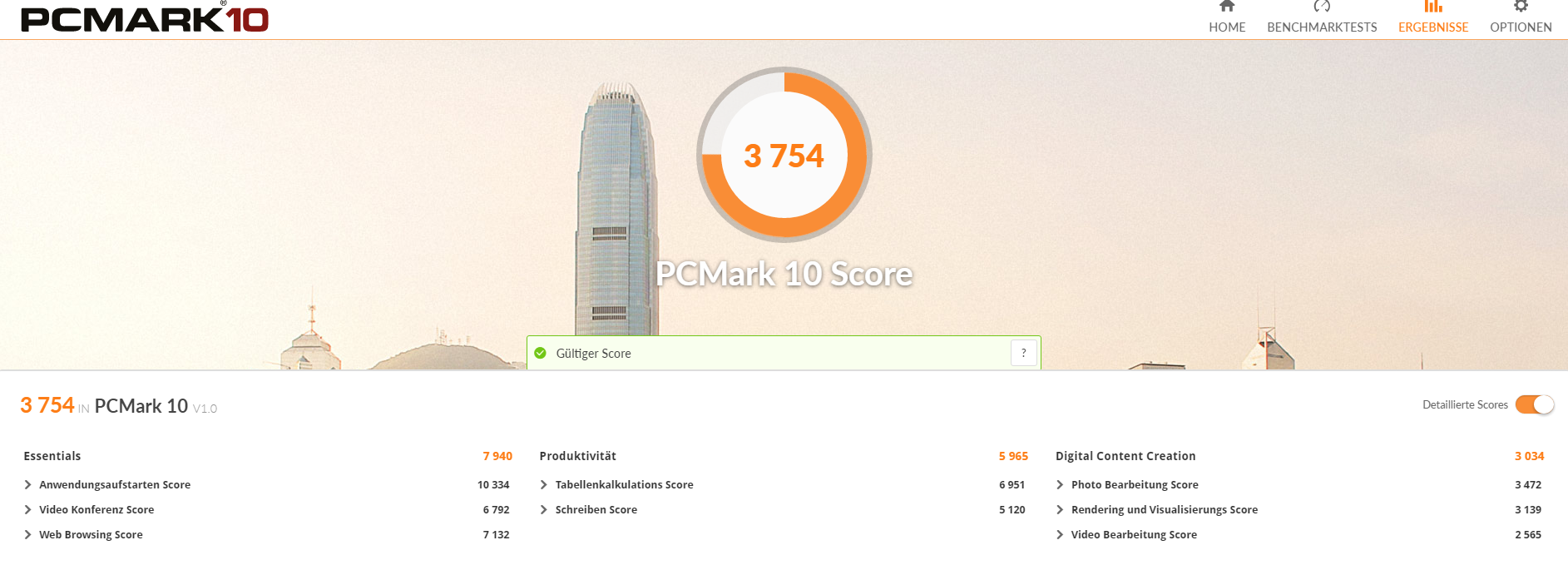 Xiaomi Mi Notebook Pro PCMark