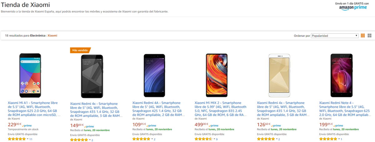 Xiaomi in der EU amazon es 1200x457