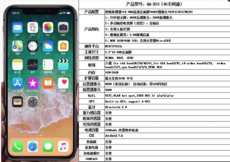 Iphone X Clone Specs