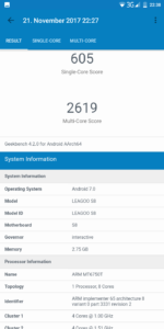Leagoo S8 Geekbench