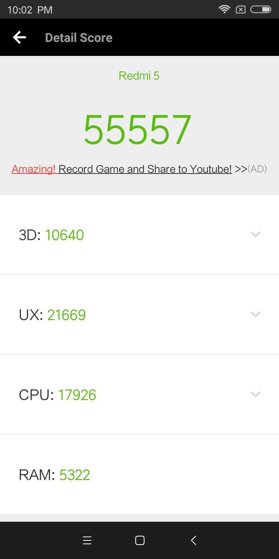 Xiaomi Redmi 5 Antutu
