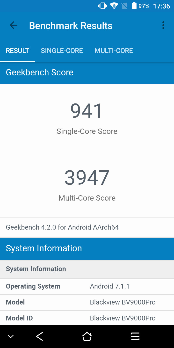 losless blackview bv9000pro geekbench