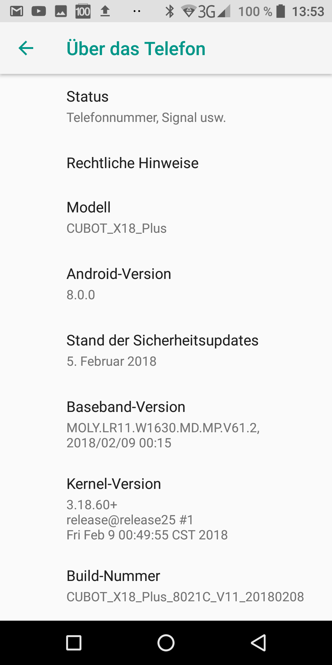 Cubot X18 Plus Android Oreo 4