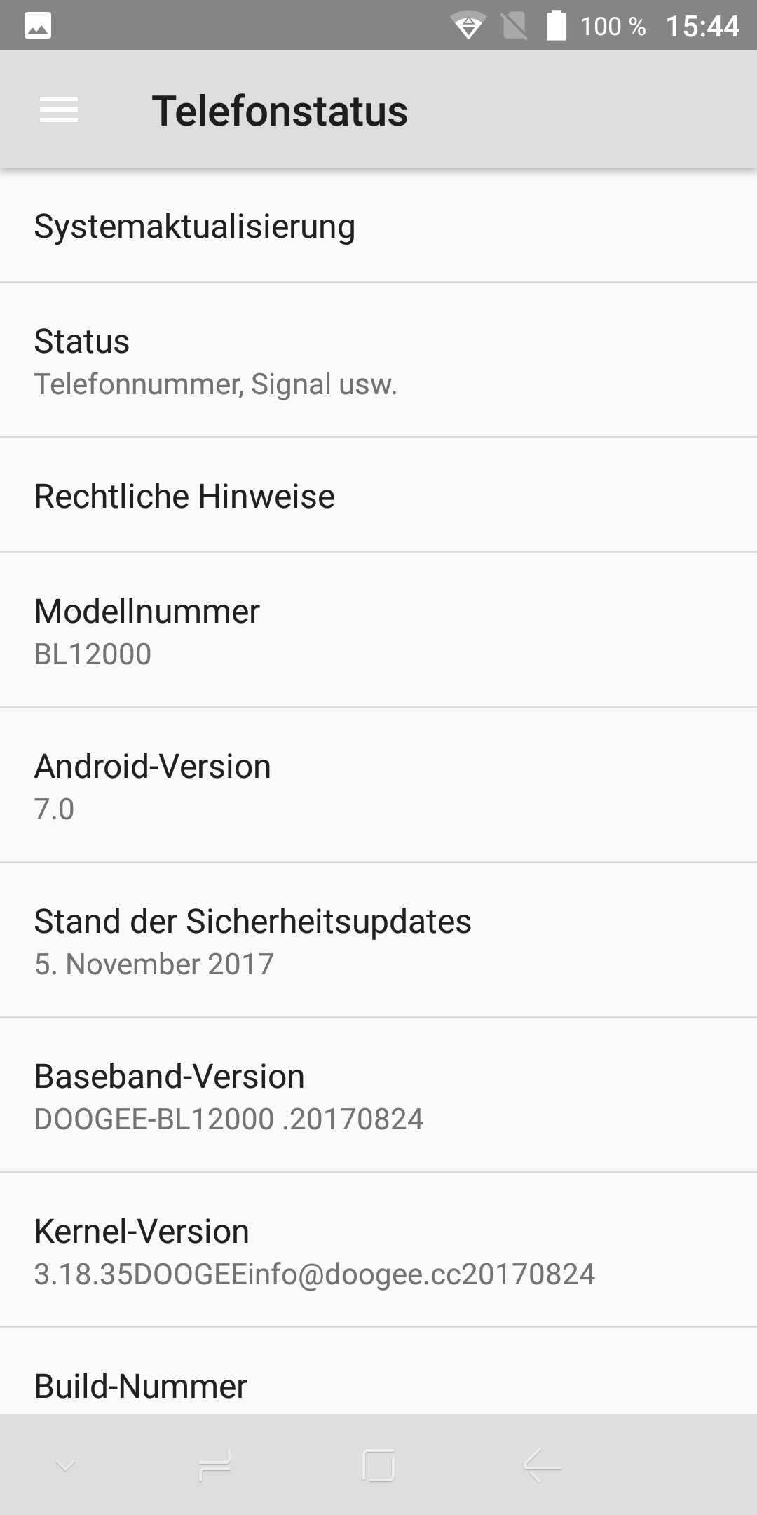 Doogee BL12000 Android 7 3