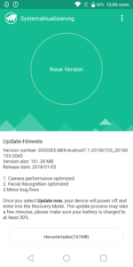 Doogee Mix 2 Update