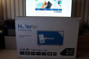 Haier 55 4K TV Packung 1