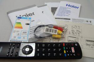 Haier 55 4K TV Packung 3