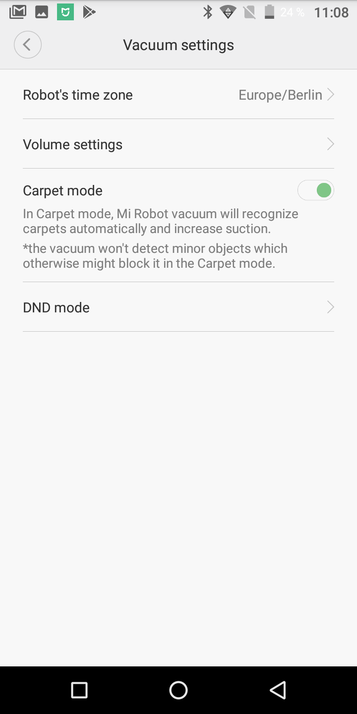 Xiaomi Roborock Sweep ONE Carpet Mode Teppich