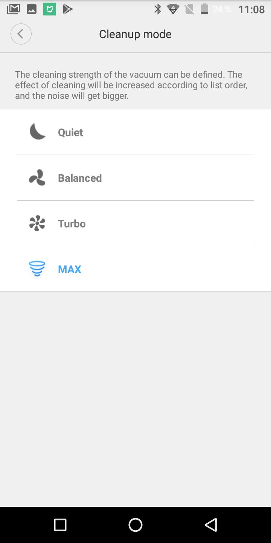 Xiaomi Roborock Sweep ONE Saugmodi Saugleistung