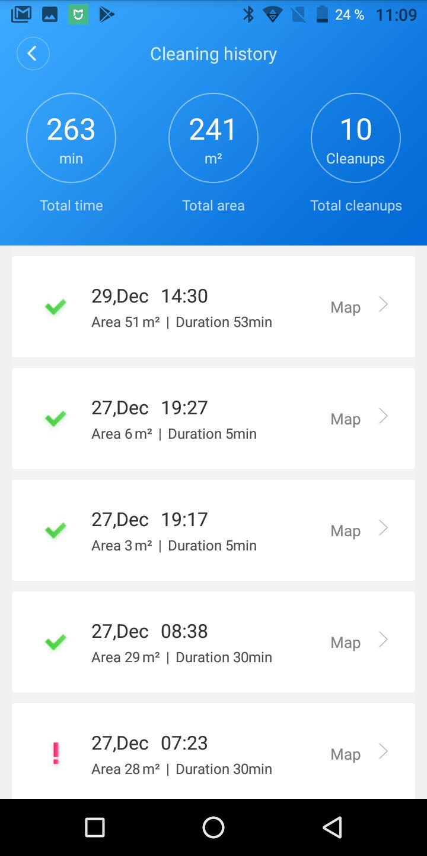 Xiaomi Roborock Sweep ONE gespeicherte Karten