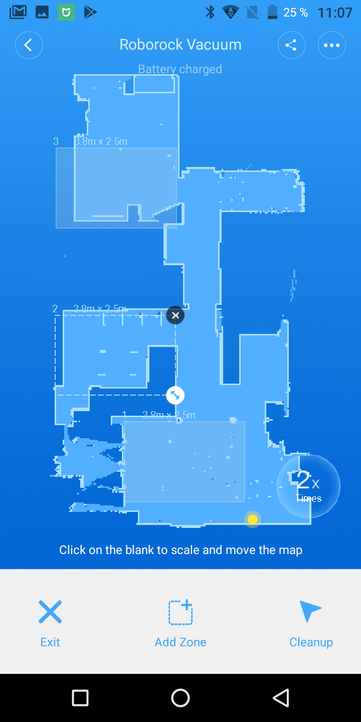 Xiaomi Roborock Sweep One Mi Vacuum 2 Guest Marine Battery Charger Wiring Diagram Lets Start With The Best New Function Which Old Cleaner Could Also Get Via An Update However Zoned Clean Up Is Not Completely