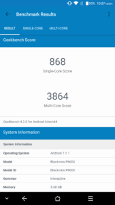 Blackview P6000 Geekbench