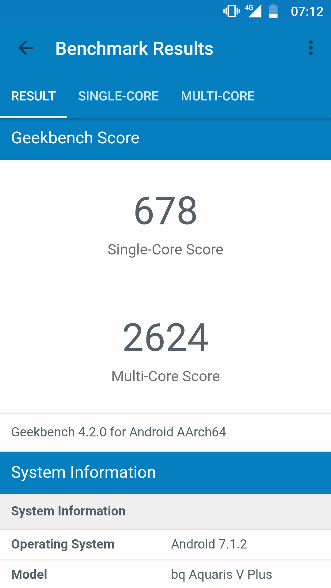 bq aquaris v plus geekbench