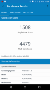 AGM X2 Outdoor Smartphone Test Benchmarks 1