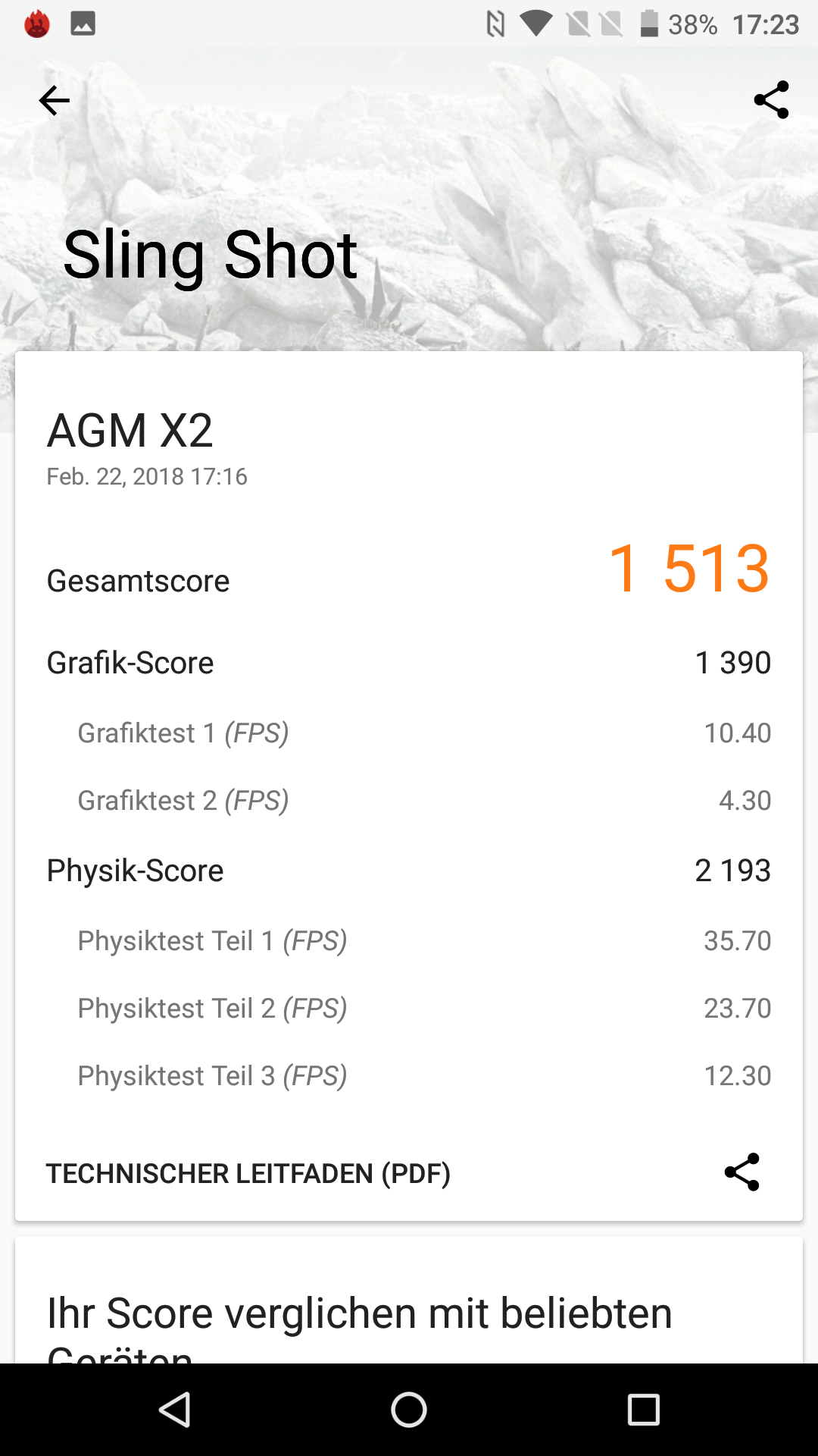 AGM X2 Outdoor Smartphone Test Benchmarks 6