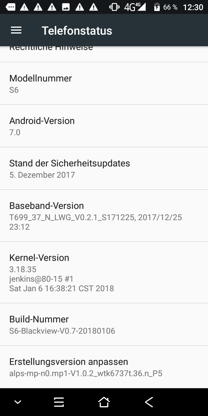 Blackview S6 Android 7 4