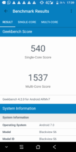 Blackview S6 Geekbench 4 1