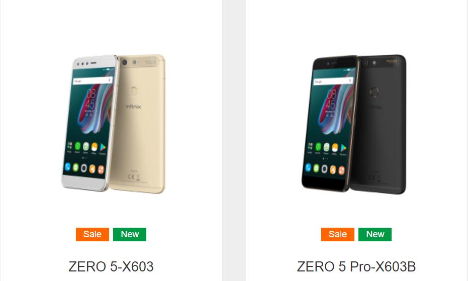 Infinix Zero 5 Pro Vergleich