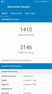 LeEco LeRee Le3 Geekbench