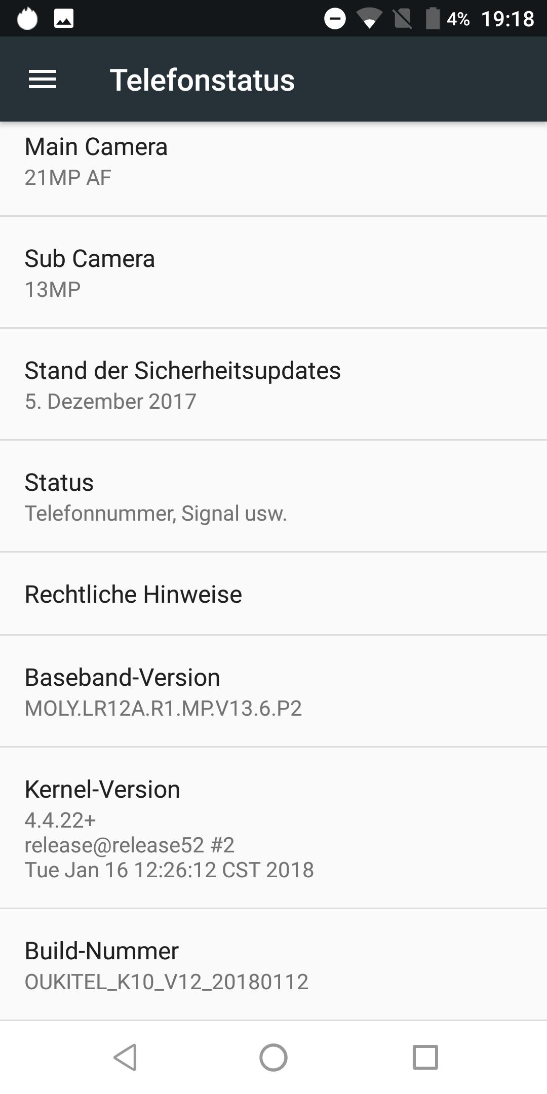 OukitelK10 Android3