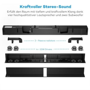 TaoTronics Soundbar im Test TT SK016 Sample 3