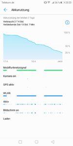 Huawei Mate 10 Pro Test Screenshot Akku 1