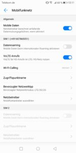 Huawei Mate 10 Pro Test Screenshot Empfang 1