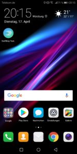 Huawei Mate 10 Pro Test Screenshot System