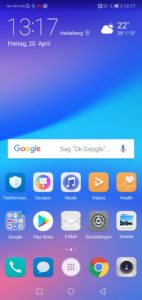 Huawei P20 Lite Android 8 with EMUI 3