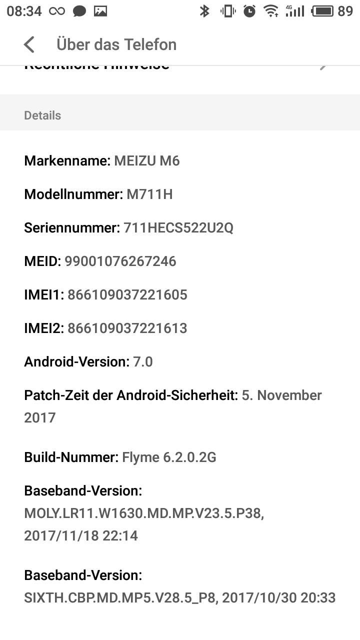 Meizu M6 Flyme OS 1