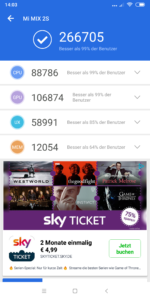 Xiaomi Mi Mix 2S MIUI 10 Antutu Benchmark