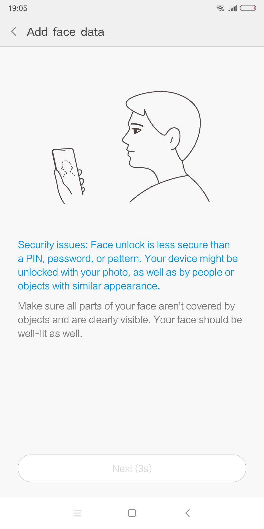 MIUI 9 Navigation Face Unlock 1