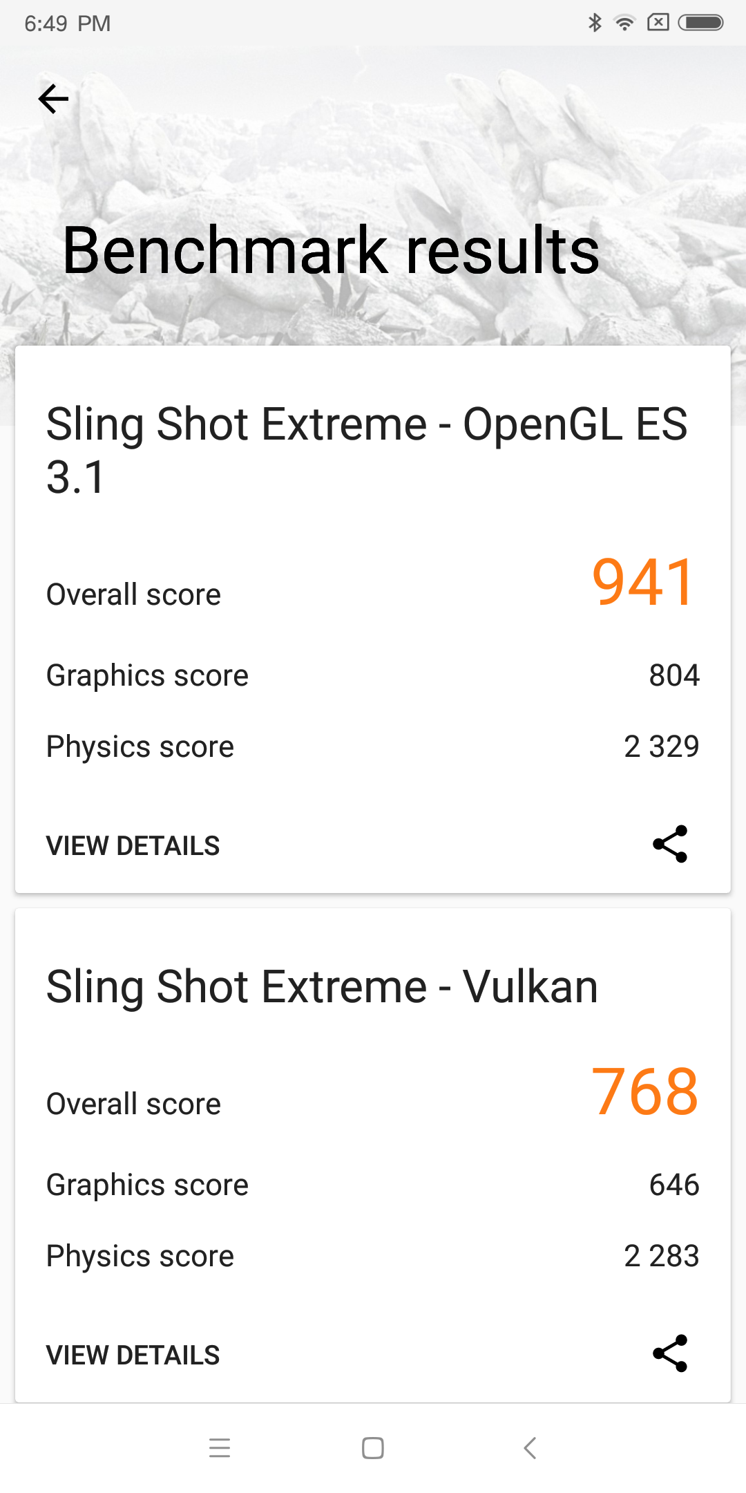 Xiaomi Redmi Note 5 3D mark benchmark