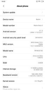 Xiaomi Redmi Note 5 MIUI 10 Test 5