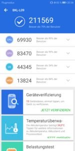Honor View 10 Testbericht Screenshot Benchmark 9