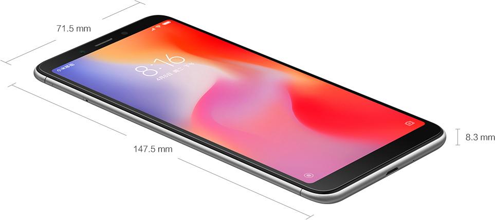 Xiaomi Redmi 6a Abmessungen