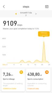 Lenovo Watch App - Schritte