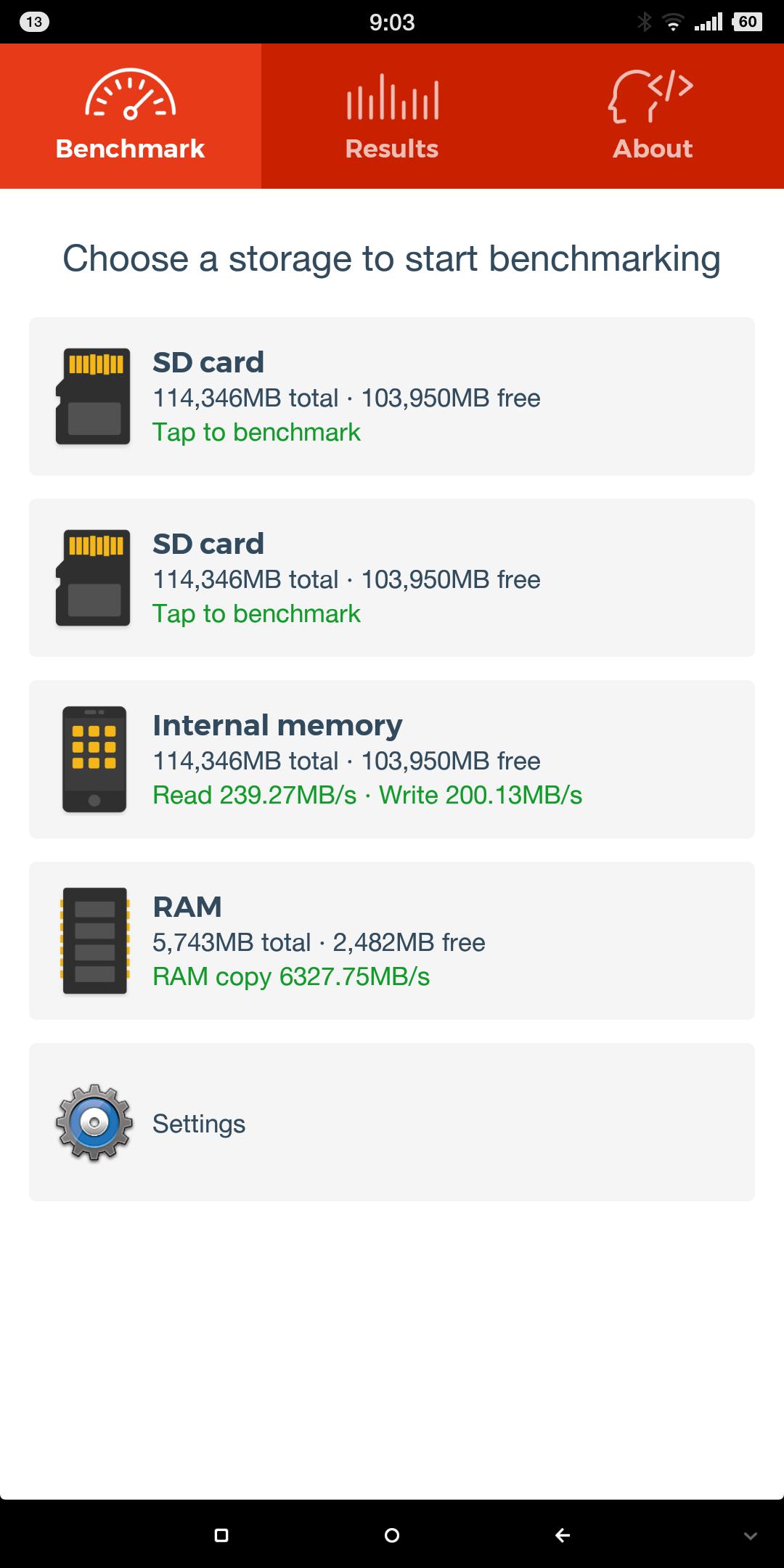 smartisan nut pro 2 SD Bench