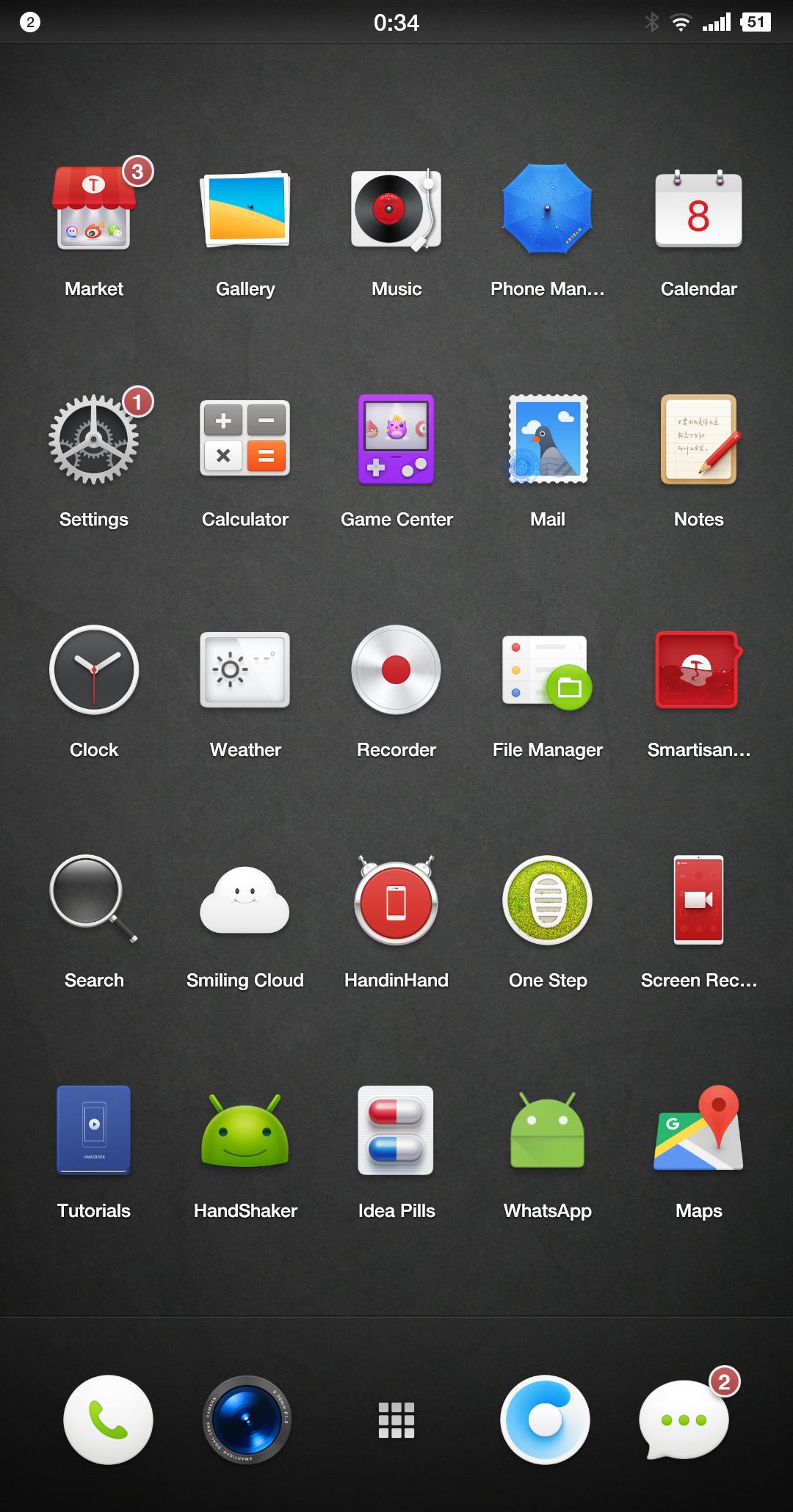 smartisan nut pro 2 System Smartisan OS 3