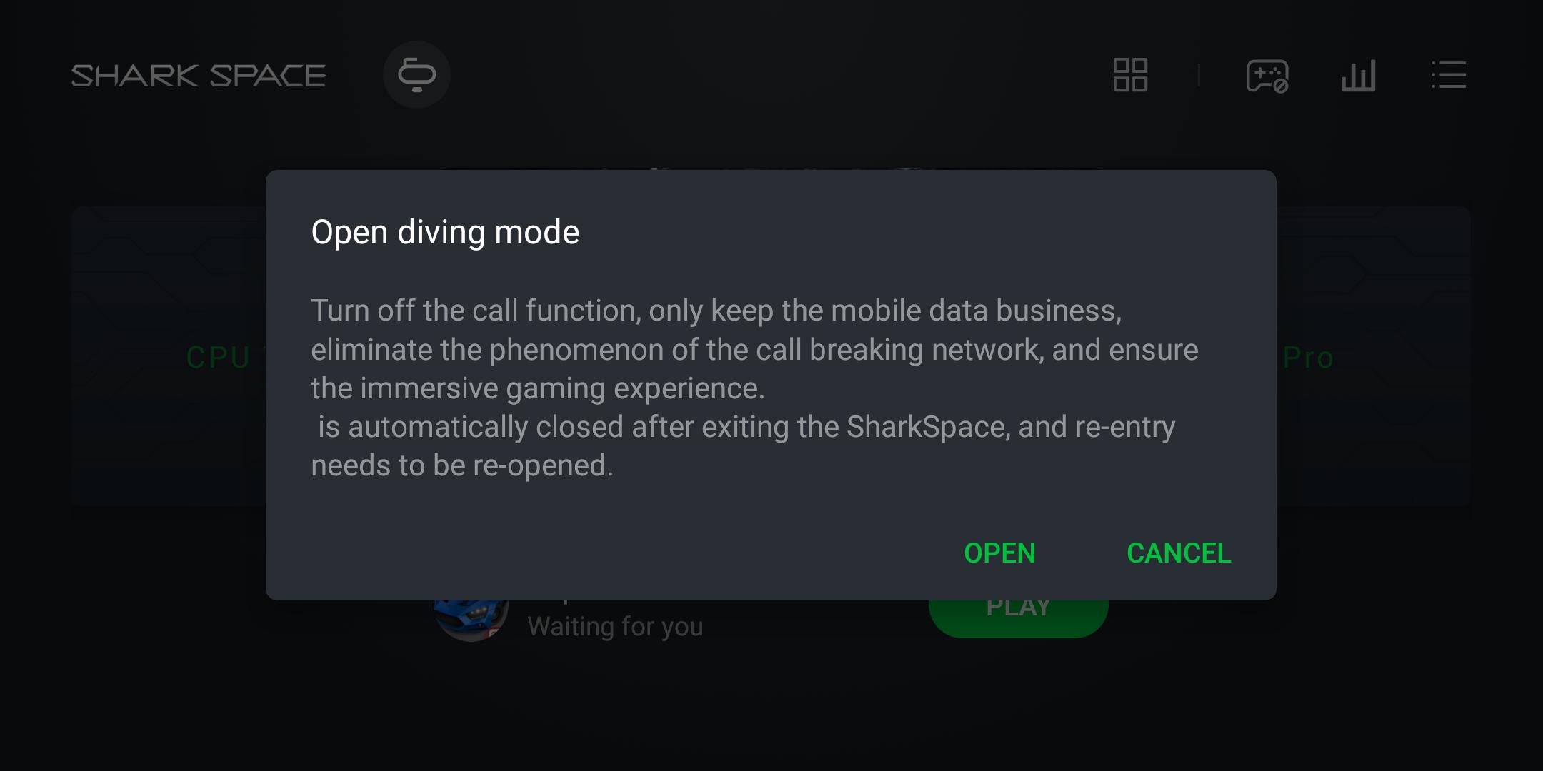 Xiaomi Blackshark Testbericht Gaming Smartphone Screenshot Shark Space 4