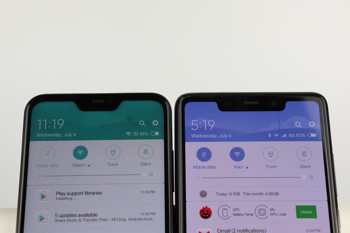 Xiaomi Mi8 SE vs. Redmi 6 Pro