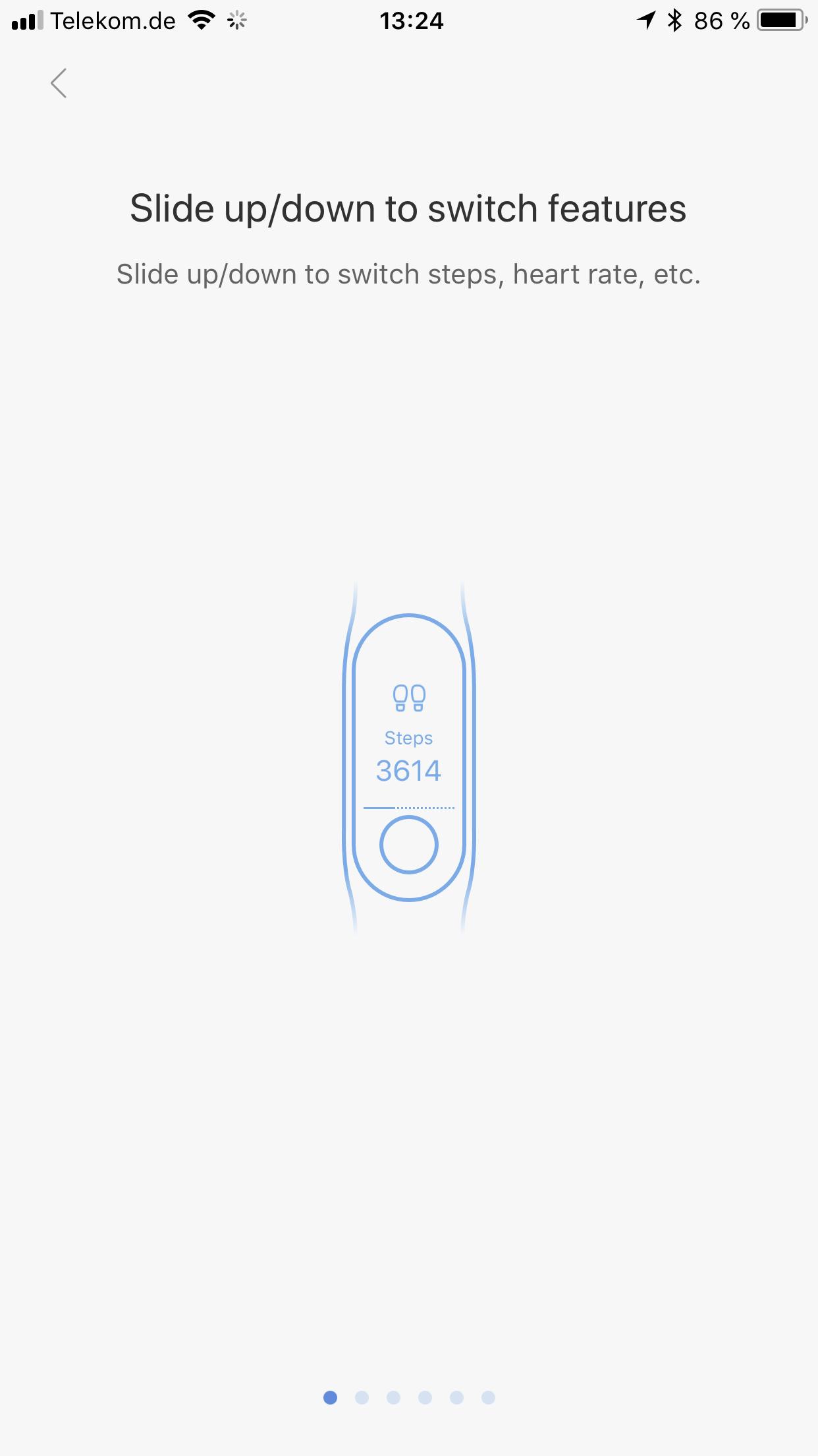Xiaomi Mi Band 3 Testbericht Bedienung Gesten 6