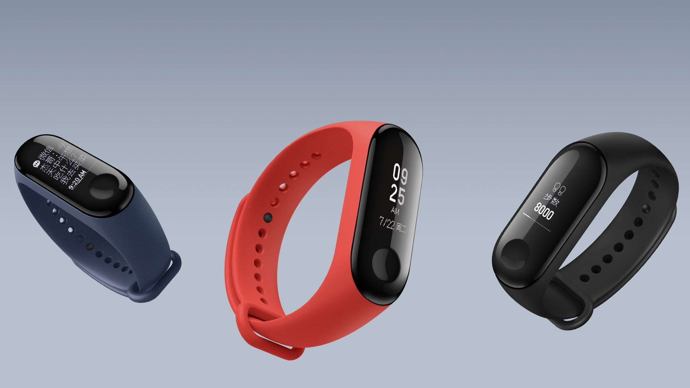 Xiaomi Mi Band 3 Testbericht Farben 1