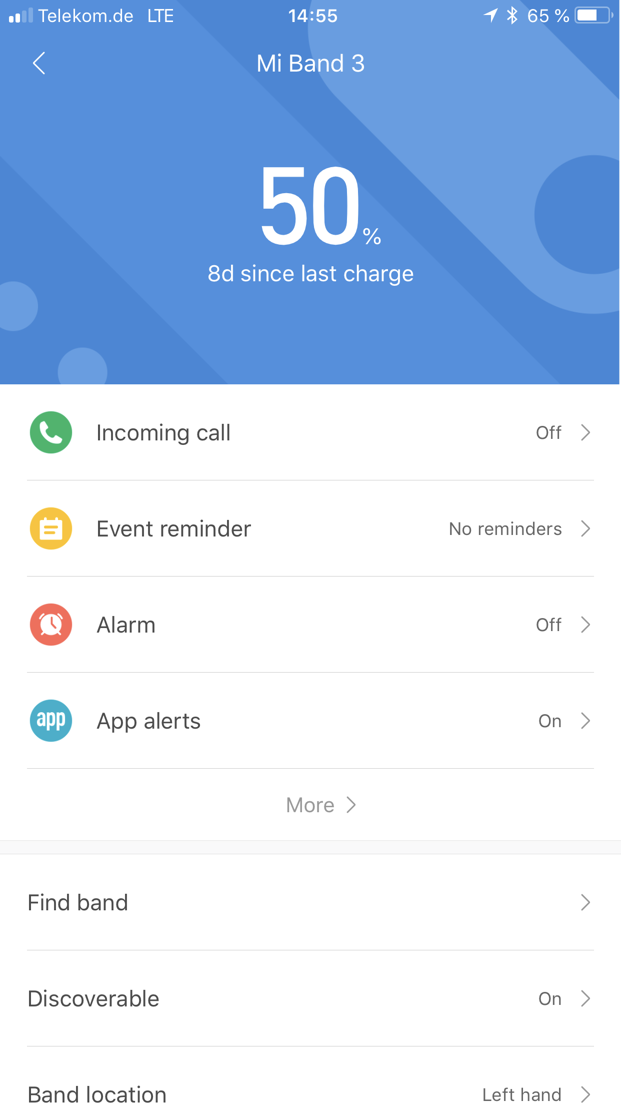 Xiaomi Mi Band 3 Testbericht Mi Fit App 4