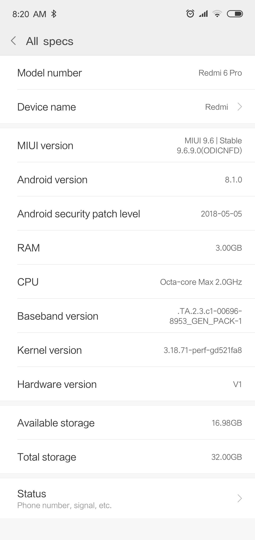 Xiami Redmi 6 Pro MIUI 9 3
