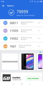 Xiaomi Redmi 6 Antutu
