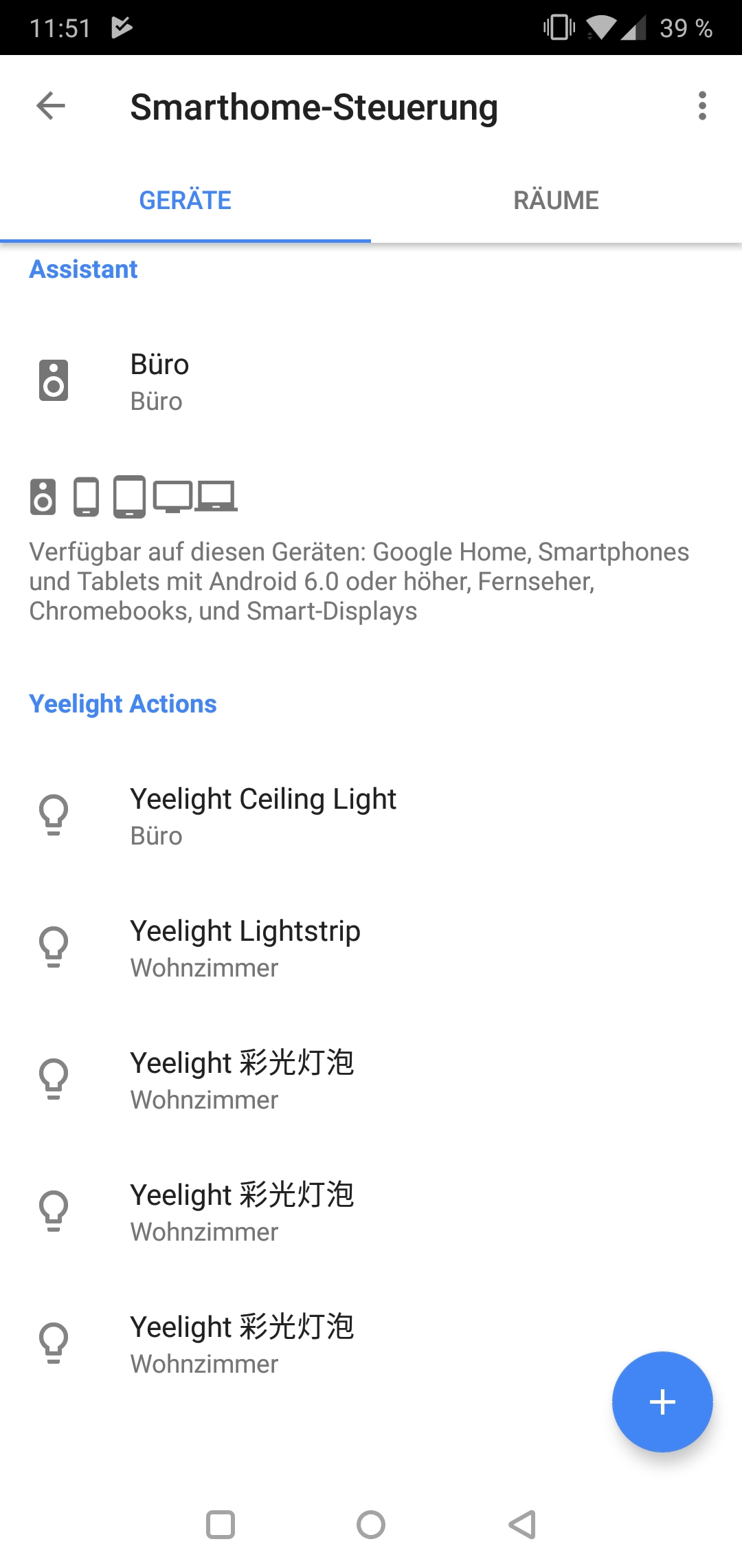 Yeelight 2nd Generation Smart Bulb Glühbirne Testbericht Screenshot Yeelight App Google Smart Home 10