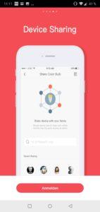 Yeelight 2nd Generation Smart Bulb Glühbirne Testbericht Screenshot Yeelight App Google Smart Home 4